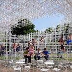 The 2013 temporary pavilion by Sou Fujimoto