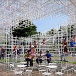 The 2013 temporary pavilion by Sou Fujimoto