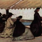 FATTORI, LA ROTONDA DEI BAGNI PALMIERI 1866