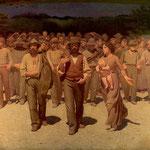 Giuseppe Pellizza da Volpedo, Il quarto stato (1901)- TEMATICA REALISTA, TECNICA DIVISIONISTA
