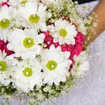 Hochzeitsfoto vom Brautstraus