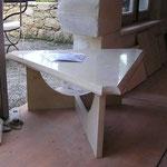 Table basse en Rocheron Doré.