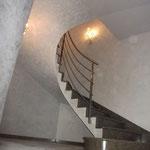 Escalier sur Voûte Sarrasine en Cénia Azul, la paillasse.