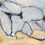 Akt I / 2006 / Acryl, Stifte auf Papier / 25x25