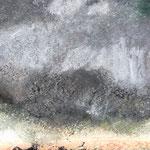 Grau / Acryl, Stifte auf Papier / 25x25
