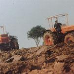 Zwei Fiat 1000 DT Traktoren