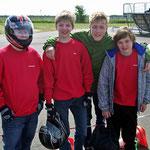 Gruppenfoto zu Viert, v.li. Christopher Mangels, Nico Föge, Fabian Meyer, Jonatan Hess