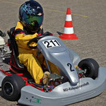 Tom Beier vom MSC Anklam dominierte die Klasse 2 und fuhr in beiden Läufen Bestzeit. Er wurde verdienter Sieger.