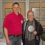 Ehrung von Herbert Engler (re.) für 50-jährige Mitgliedschaft