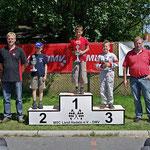 Klasse 1: 1. Johannes Habel, 2. Jeremy Kaiser, beide MC Lebusa. 3. Paul Miegel (MC Schwerin Krösnitz)