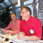 Jugendwart Bernd Hunger (li.) und 1. Vorsitzender Sascha Schlüer (re.) bei der Versammlung