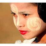 Young girl with art of Tanaka