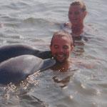 Delfine schwimmen hier auch