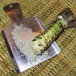 Wasabi als Wurzel, auch Rhizom genannt