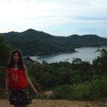 Meine Tochter auf dem Berg