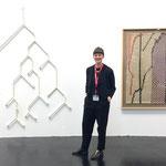 Katharina Wendler, Galerie Marzona, mit Arbeiten von Sofia Hulten (links) und Olaf Holzapfel (rechts)