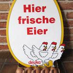 Eier von glücklichen Hühnern