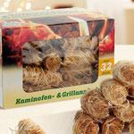 Kamin-/Grillanzünder aus Holzwolle