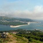Blick nach Portugal  über den Río Miño