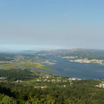 Blick vom Berg Santa  Negra auf den Río Miño