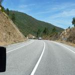 Unterwegs nach Ourense, endlich blauer Himmel
