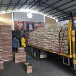 Anlieferung von mehreren Kilo Reis.