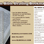 The Bible Reading Bookmark