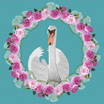 Swan and Roses Wreath