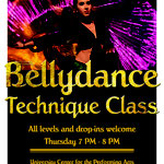Poster Bellydance Technique Class