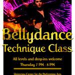 Poster Bellydance Technique Class