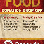 Food donation drop off poster
