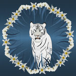 White Tiger Orchid Grass Wreath