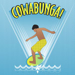 Cowabunga Flow-boarding Pop Art