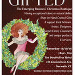 Gifted holiday red flyer
