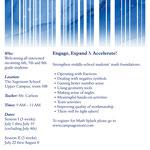 The Sagemont School Summer Math Splash program