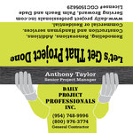 Daily Project Professionals Inc outside business card