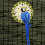 Blue and Yellow Macaw Wreath