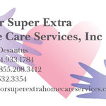 Senior Super Extra Home Care Services Inc. business card front