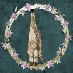 Lar Gibbon Lily Wreath