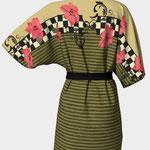 Poinsettia Kimono Back