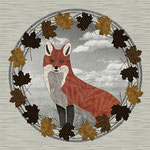 Red Fox Autumn Wreath