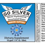 Go Silver Bottle Label