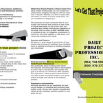 Daily Project Professionals Inc. outside tri fold brochure
