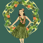 Hula Pineapple Wreath