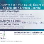 Easter postcard back