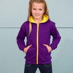 Kinder Zipo-Hoodie 2-farbig