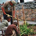 Ein Garten wird angelegt.