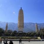 die drei Pagoden des Chongsheng Tempels