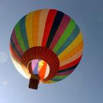 Heisluftballon-Fahrten wurden auch angeboten