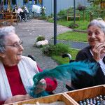 Arbeiten am mobilen Fühltisch - Sozialer Dienst Altenzentrum St. Marien